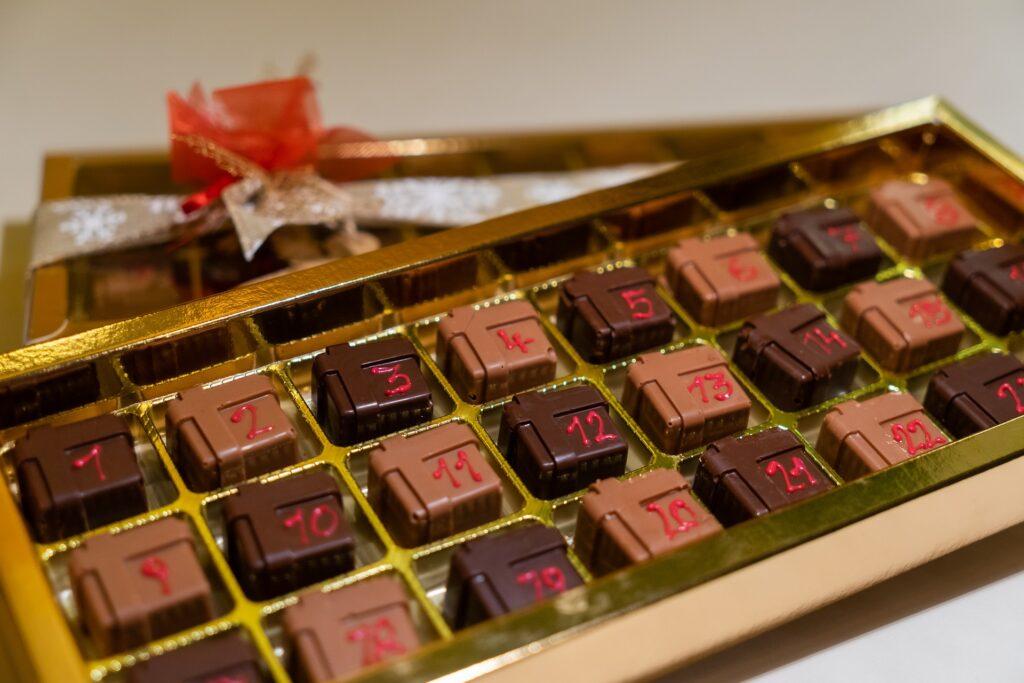 Kalendarz ze słodyczami