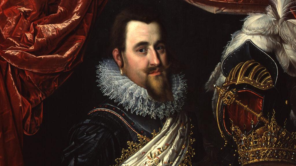 Christian IV  portret pędzla Pietera Isaacsza,zamek Frederiksborg w Hillerød