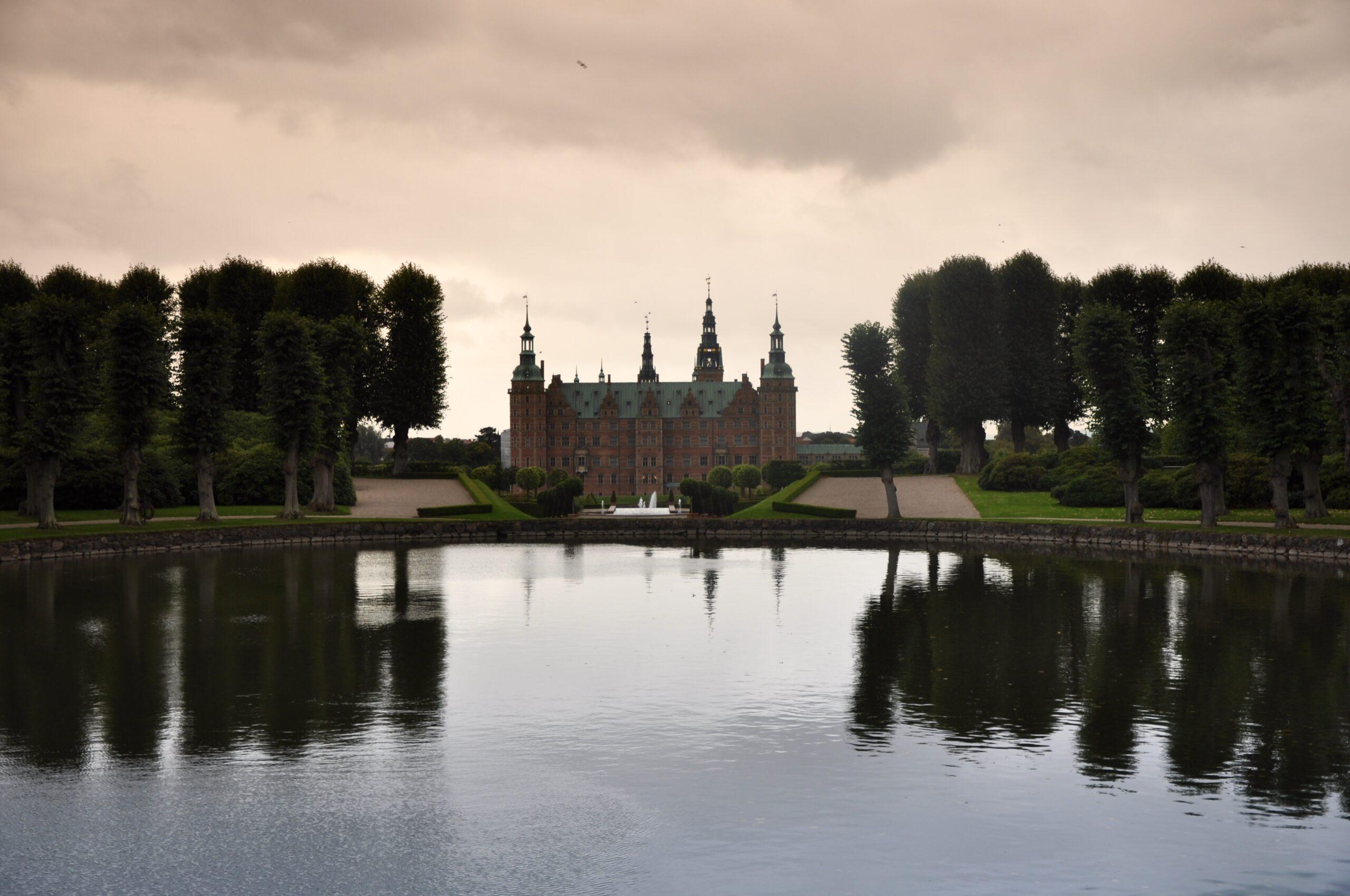 Ogrody zamkowe Frederiksborg.